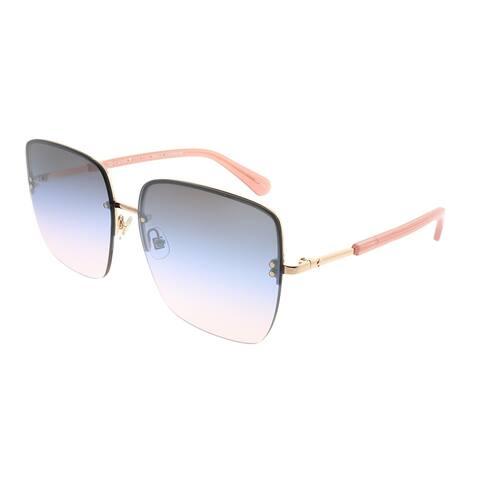 Kate Spade Square KS Janay 35J QT Women Pink Gold Frame Pink Gradient Lens Sunglasses