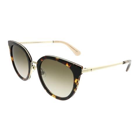 3b94ffcc912e Kate Spade Cat-Eye KS Jazzlyn 2IK HA Women Havana Gold Frame Brown Gradient  Lens