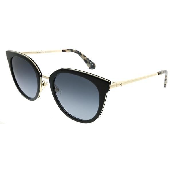 Shop Kate Spade Cat Eye Ks Jazzlyn 2m2 9o Women Black Gold Frame