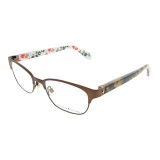 Kate Spade Rectangle KS Diandra 305 Women Brown Havana Frame Eyeglasses