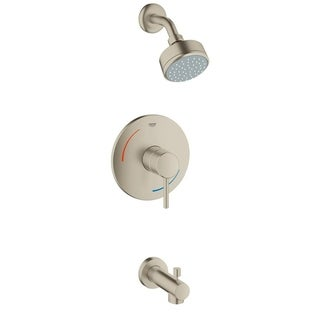 Grohe Concetto Tub and Shower Faucet 35073EN1 Brushed Nickel
