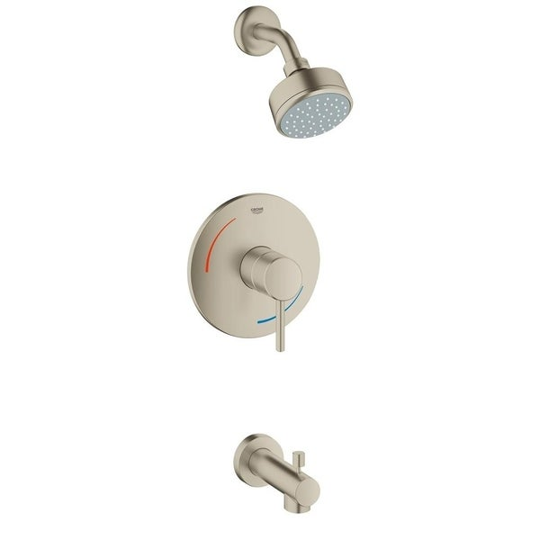 Shop Grohe Concetto Tub and Shower Faucet 35073EN1 Brushed Nickel ...
