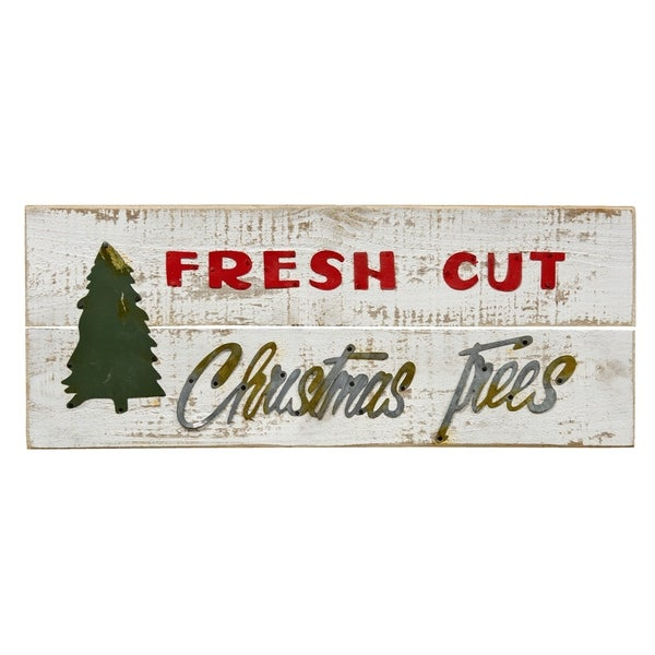 Fresh Cut Christmas Trees.Fresh Cut Christmas Trees Sign