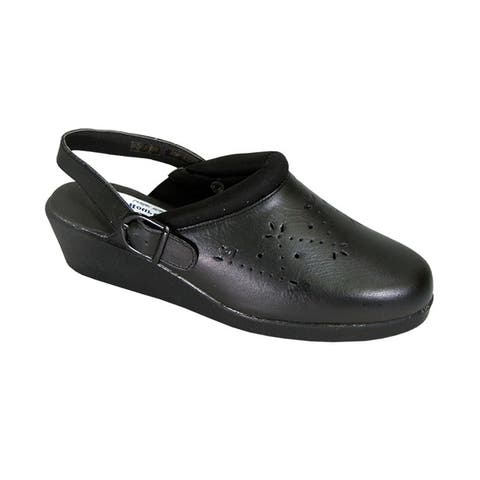 24 HOUR COMFORT Libby Women Extra Wide Width Slingback Clog Shoes