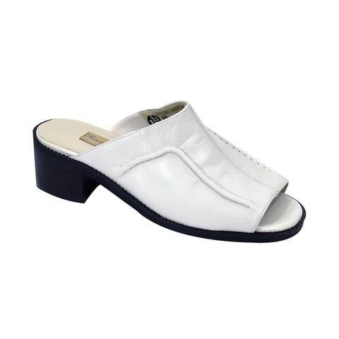 PEERAGE Patrice Women Extra Wide Width Comfort Leather Heeled Sandals