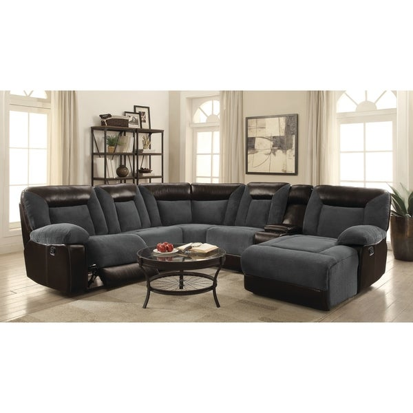 shop cybele casual grey motion sectional on sale free shipping today overstock 22278526. Black Bedroom Furniture Sets. Home Design Ideas
