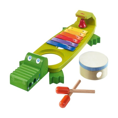 HABA Symphony Croc Music Band Set with 4 Instruments