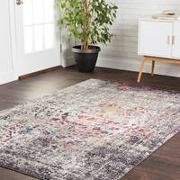 "Transitional Bohemian Grey/ Multi Vintage Medallion Area Rug - 7'10"" x 10'6"""