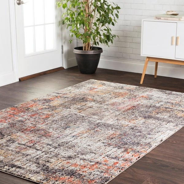 Shop Transitional Bohemian Grey Rust Abstract Vintage