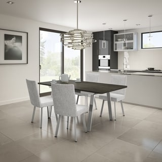 Amisco Della Extendable Table and Elmira Chairs Dining Set