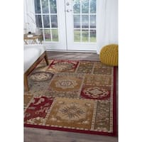 Alise Rugs Infinity Transitional Floral Area Rug - multi - 6'7 x 9'6