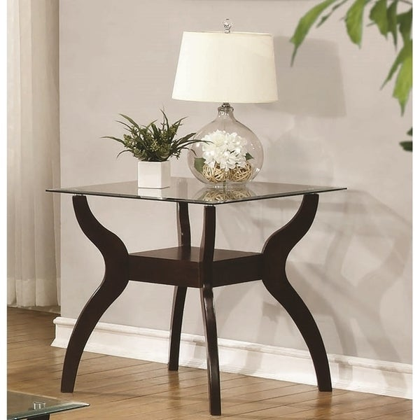 """Casual Cappuccino End Table - 24"""" x 24"""" x 24.50"""""""