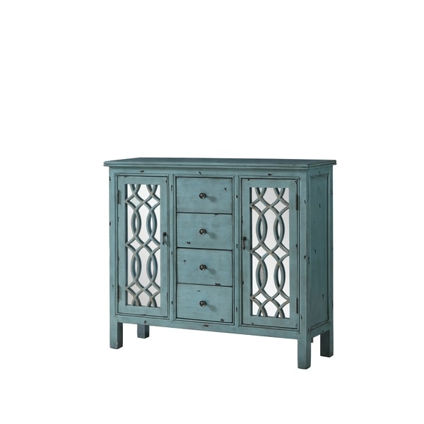 Shop French Country Antique Blue Accent Cabinet