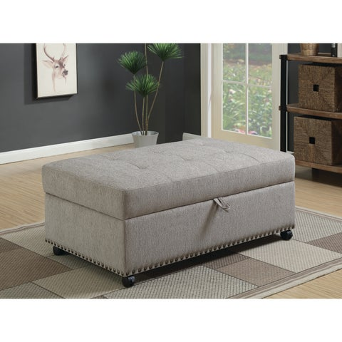 Traditional Dove Grey Sleeper Ottoman