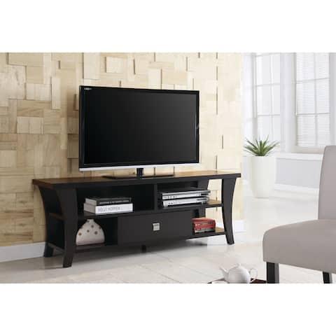 "Transitional Cappuccino TV Console - 60"" x 15.50"" x 21.75"" - 60"" x 15.50"" x 21.75"""