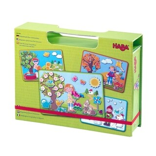 HABA Seasons Magnetic Game Box - with 90 Magnetic Pieces
