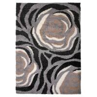 """Cozy Shag Modern Floral Area Rug Beige - 7'10"""" x 10'"""