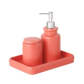 Sparrowhawk Skylar Solid Color 3-Piece Bath Accessory Set