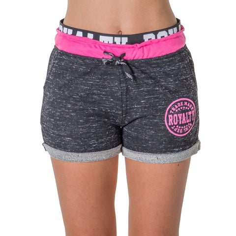 Ladies French Terry Drawstring Shorts with Applique