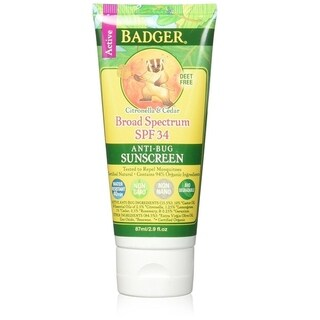 Badger 2.9-ounce Anti-Bug Sunscreen Cream SPF 34