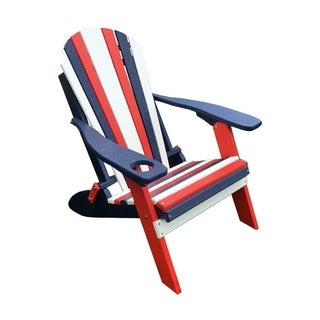 Strange Patriotic Folding Adirondack Chair W Cup Holder Red White And Blue Overstock Com Shopping The Best Deals On Sofas Chairs Sectionals Pdpeps Interior Chair Design Pdpepsorg