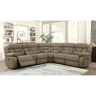 "Camargue Casual Tan Motion Sectional - 125.50"" x 114.50"" x 40"""