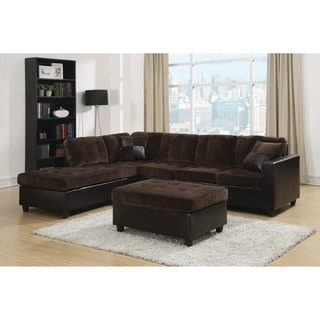 """Mallory Casual Dark Chocolate Sectional - 107.50"""" x 83"""" x 33.50"""""""