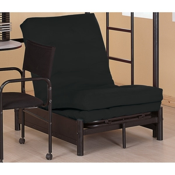 Merveilleux Contemporary Black Small Futon Pad