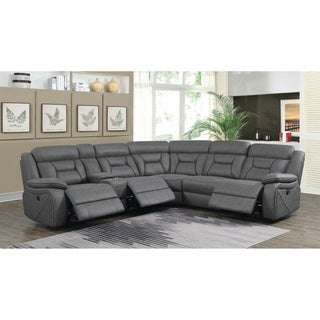 """Camargue Casual Grey Motion Sectional - 125.50"""" x 114.50"""" x 40"""""""