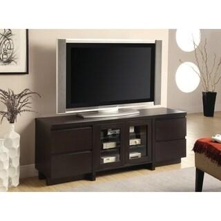 Contemporary Cappuccino 4-drawer TV Console