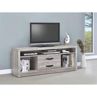 "Modern Grey Driftwood TV Console - 59"" x 15.50"" x 23.50"""