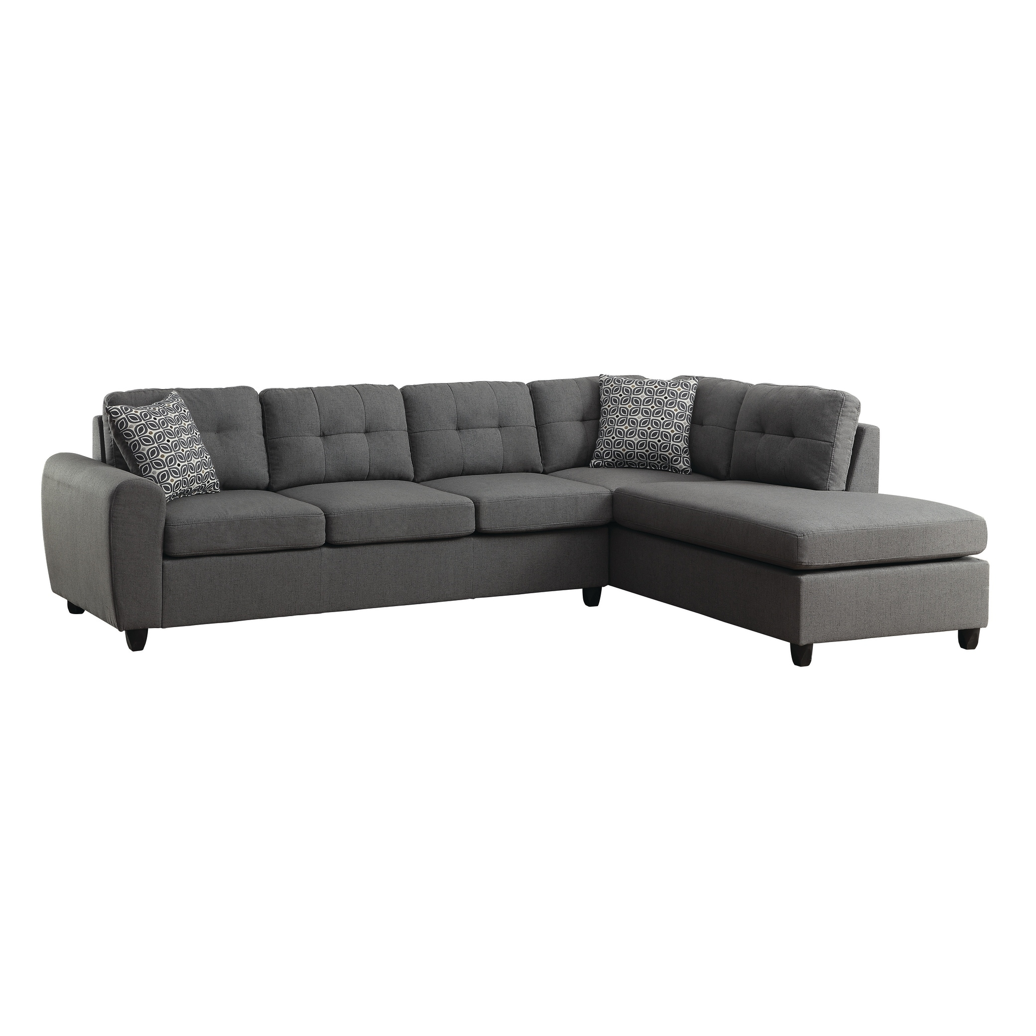 Stonenesse Contemporary Grey Sectional - 110\
