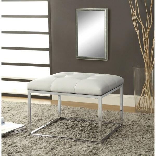 Shop Keser Chrome Sleek Design Cream White Upholstered