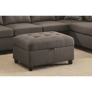 Stonenesse Contemporary Grey Storage Ottoman