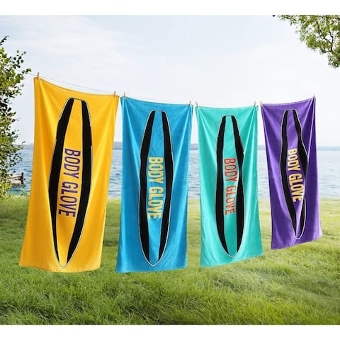 Body Glove 36x70 Throwback Surfboard Beach Towel
