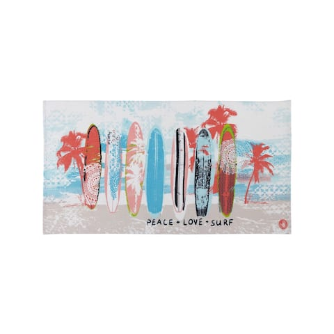 Body Glove 36x70 Surfboard Beach Beach Towel - Multi