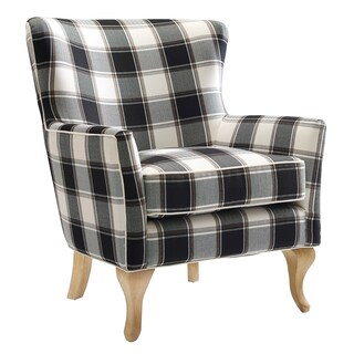 Dorel Living Fremont Checkered Pattern Accent Chair