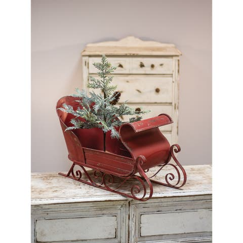 Rustic Red Sleigh