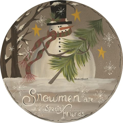 Snowmen Special Friends Plate