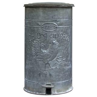 Metal Rooster Trash Bin