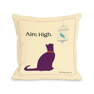 Aim High Cat  Pillow by Dog is Good