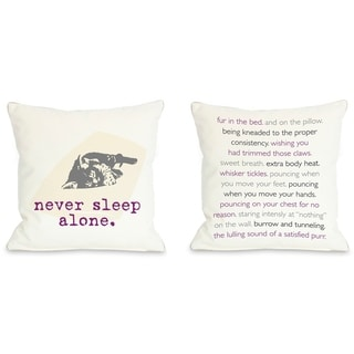 Never Sleep Alone Cat  Pillow by Dog is Good