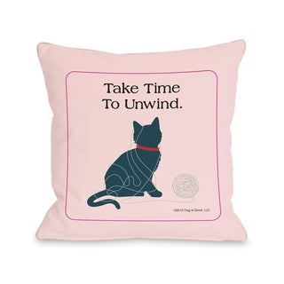 Unwind Cat  Pillow by Dog is Good