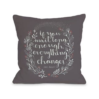 Everything Changes - Black  Pillow by Ana Victoria Calderon