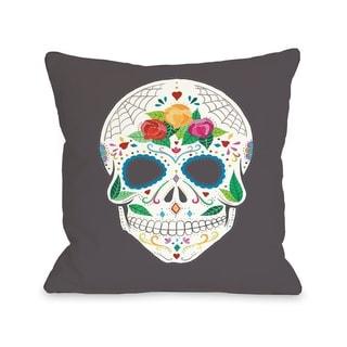 Calavera   Pillow by Ana Victoria Calderon