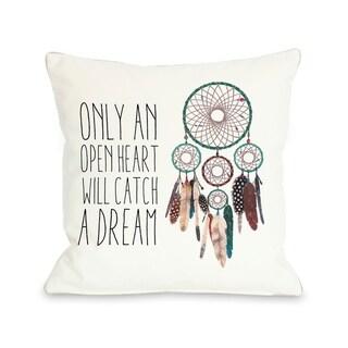 Only An Open Heart Dreamcatcher   Pillow by Ana Victoria Calderon