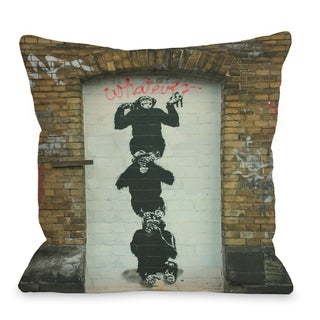 Monkey Business  Pillow by Banksy