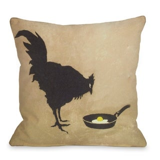 Chicken and Egg  Pillow by Banksy
