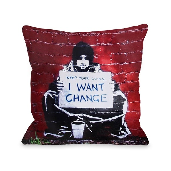 Keep Your Coins Pillow by Banksy