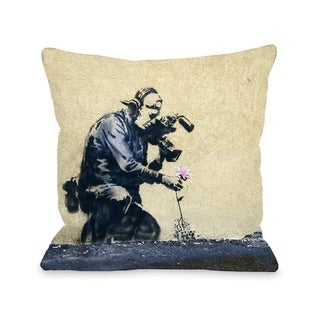Flower  Pillow by Banksy